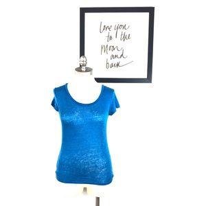 Calypso St. Barth blouse blue casual linen small